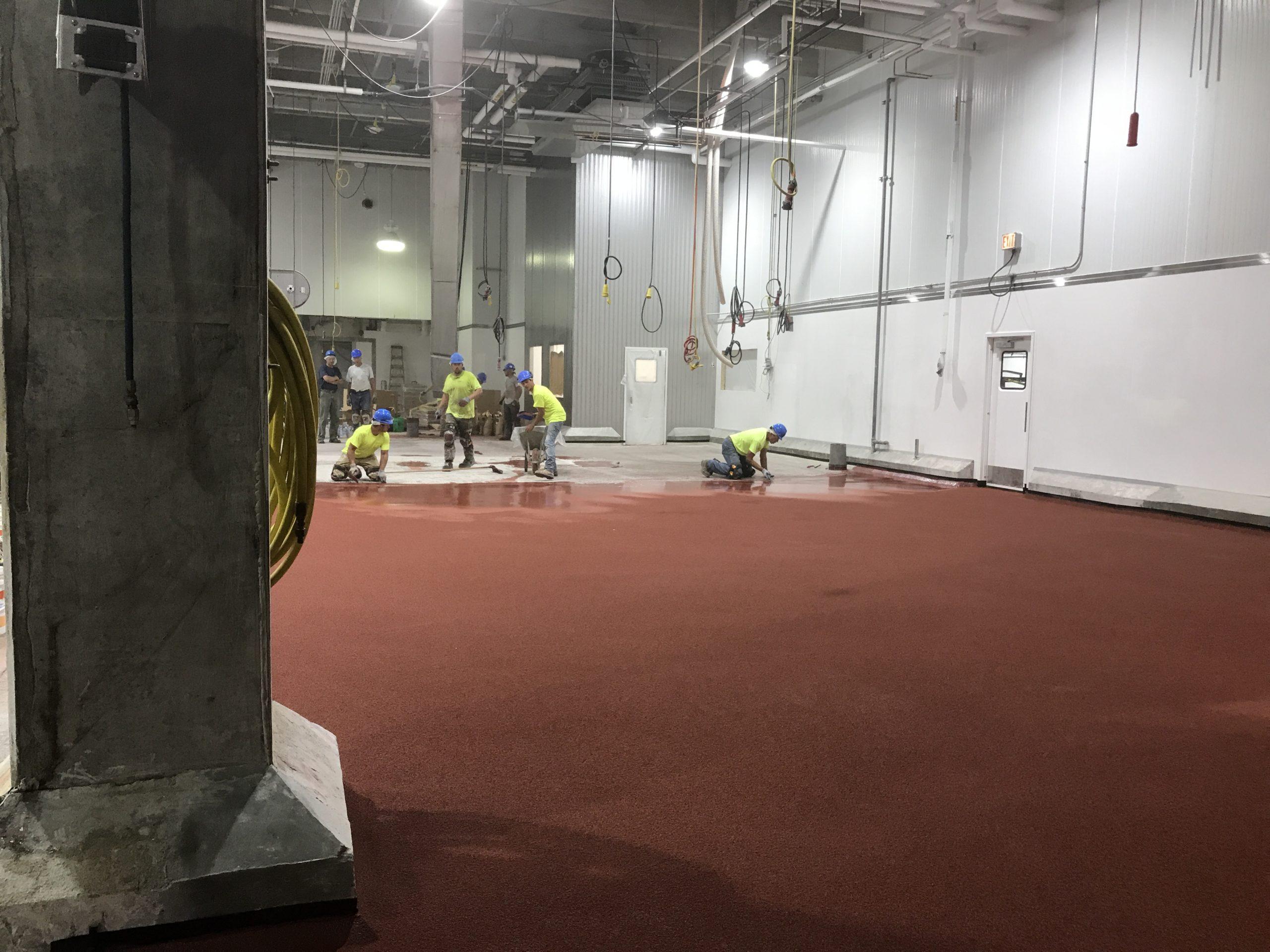 Urethane Cement Floor Installation (Industrial Flooring)