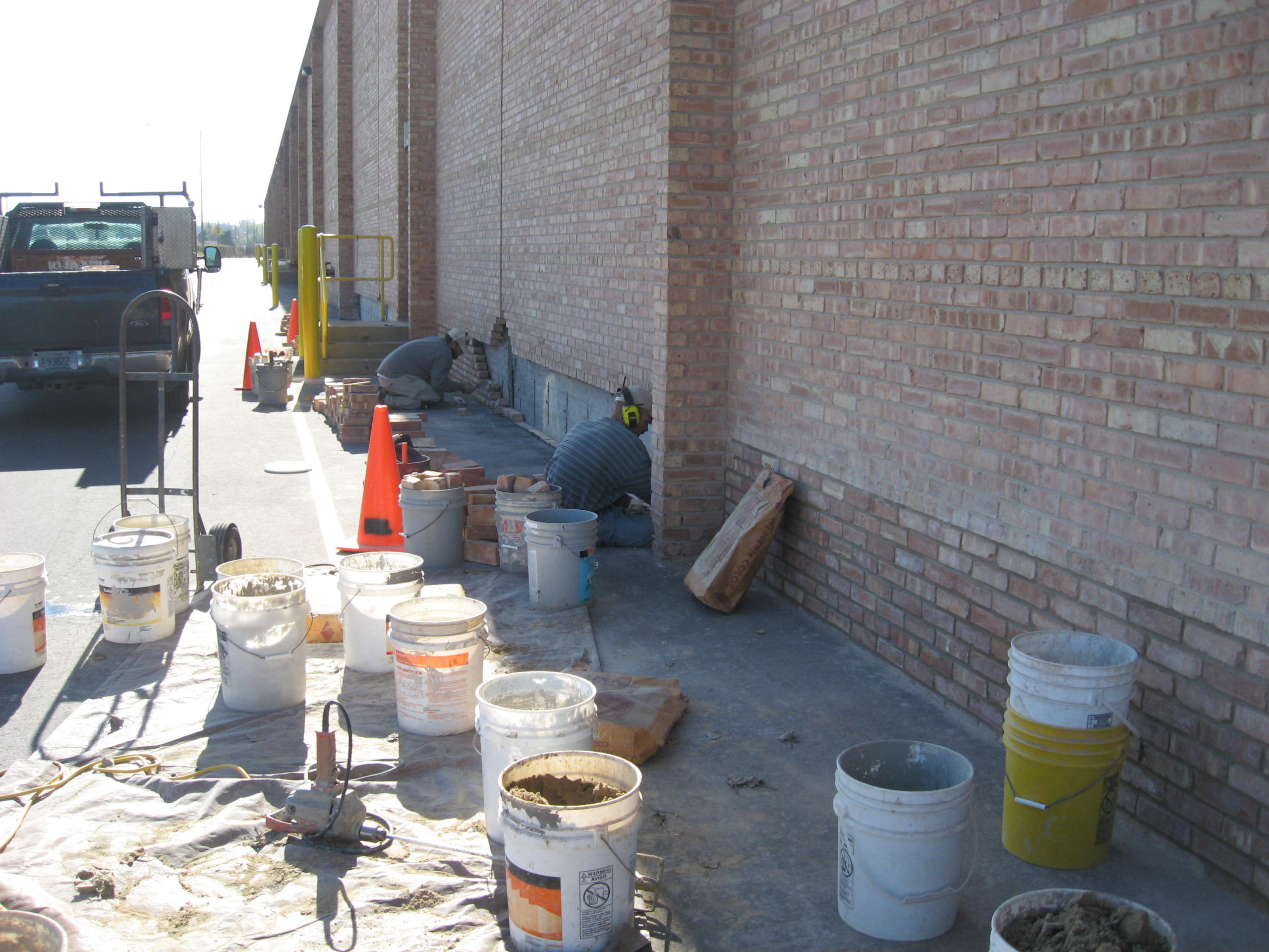 Brick Replacement Project at JC Penney Distribution Center